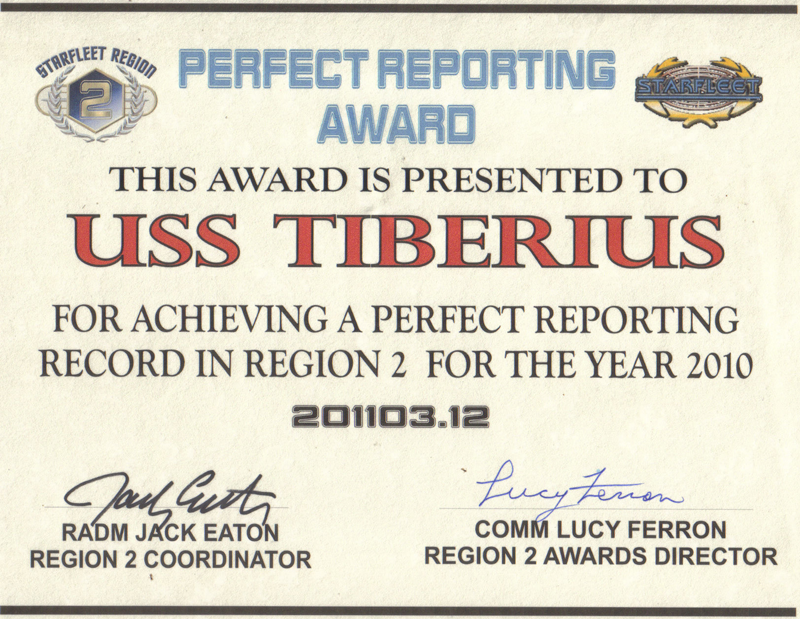 2010 Region Two Reporting Award