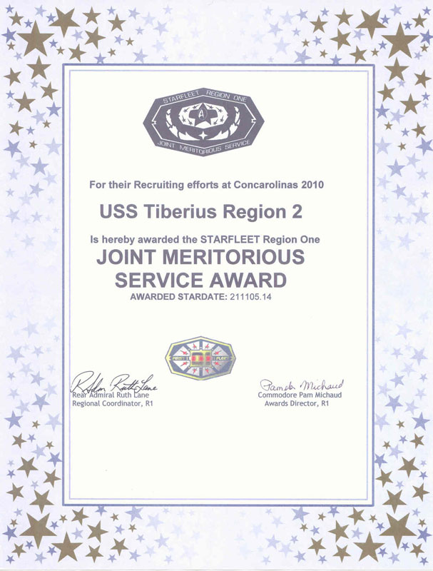 2010 Joint Meritorious Service Award